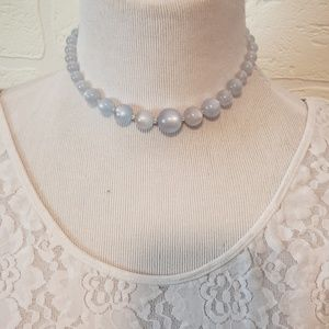 1950s Moonglow Beaded Choker Style Necklace